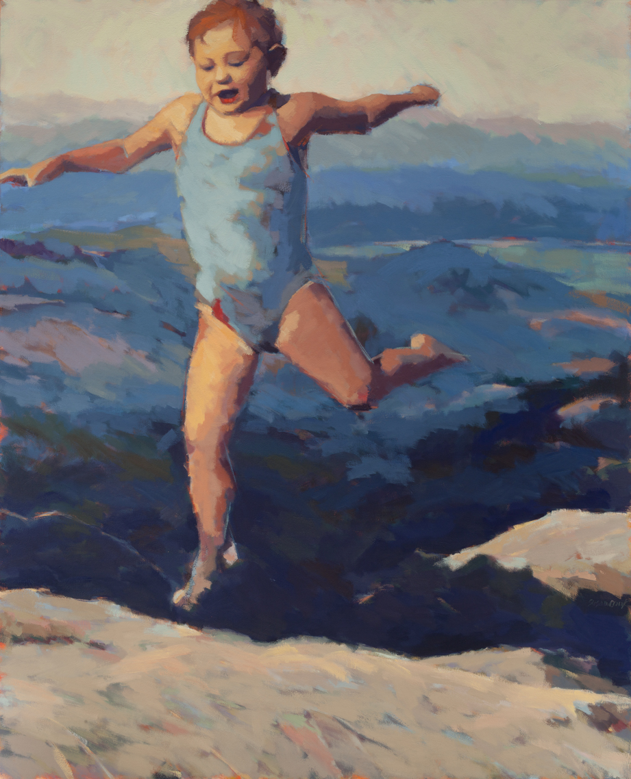 "Susan Cook ""Why Can't I Fly"" oil on canvas, 48x52"