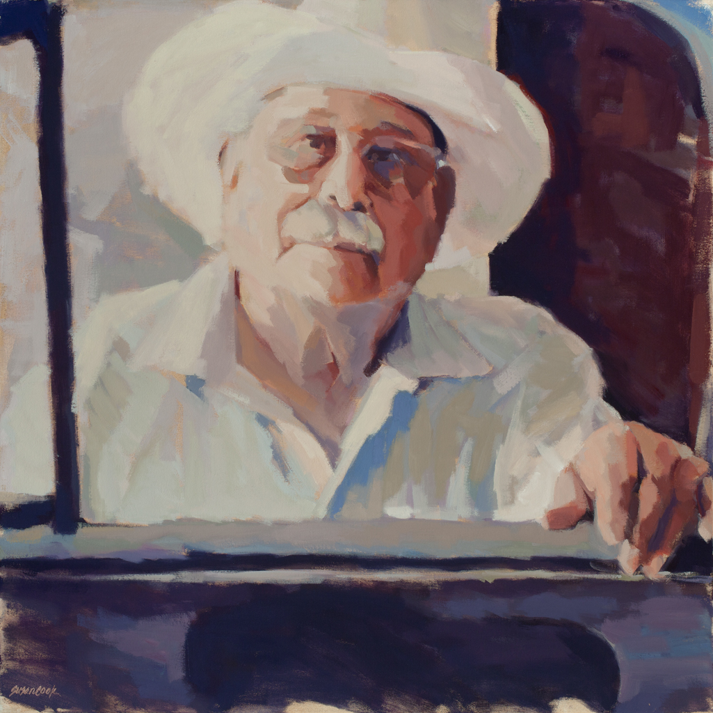 "Susan Cook ""Leonard"" oil on canvas, 30x30"