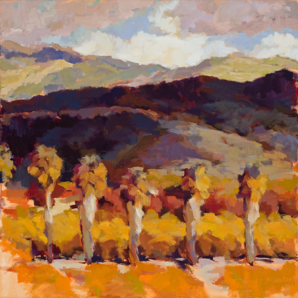 "Susan Cook ""Highway 150 II"" oil on canvas, 36x36"