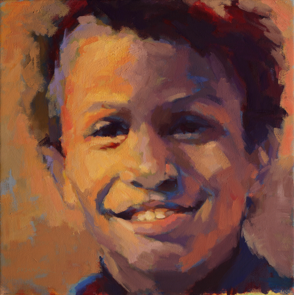 "Susan Cook ""Jemal"" oil on canvas, 18x18"