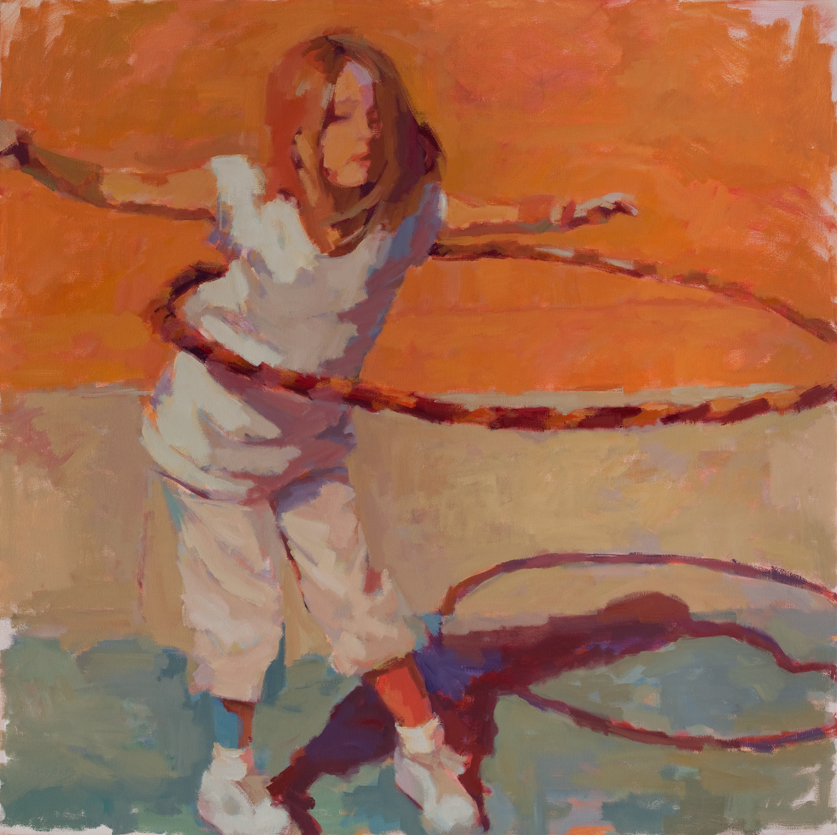 "Susan Cook ""Determination"" oil on canvas, 48x48"