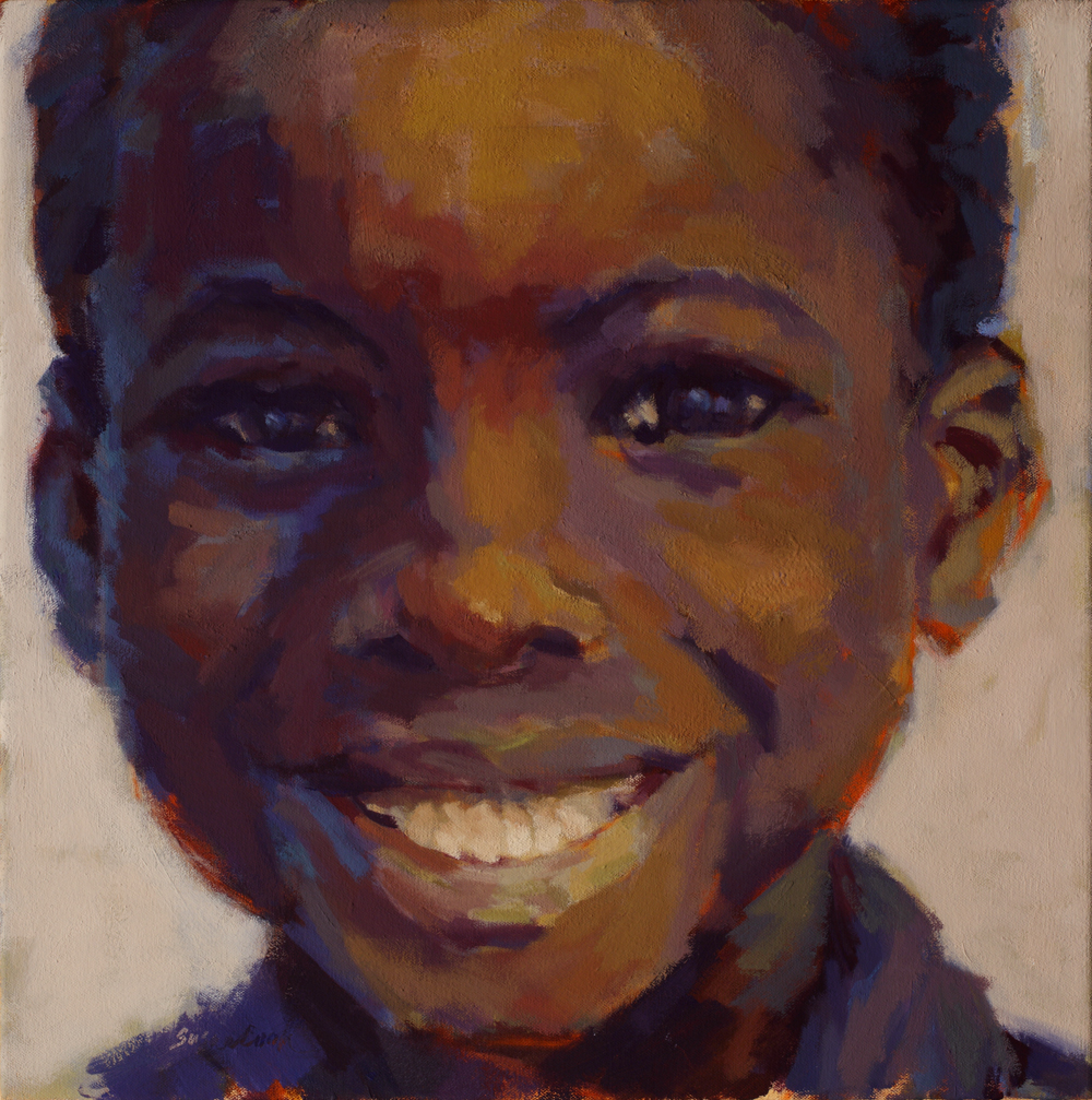 "Susan Cook ""Asaph"" oil on canvas, 18x18"