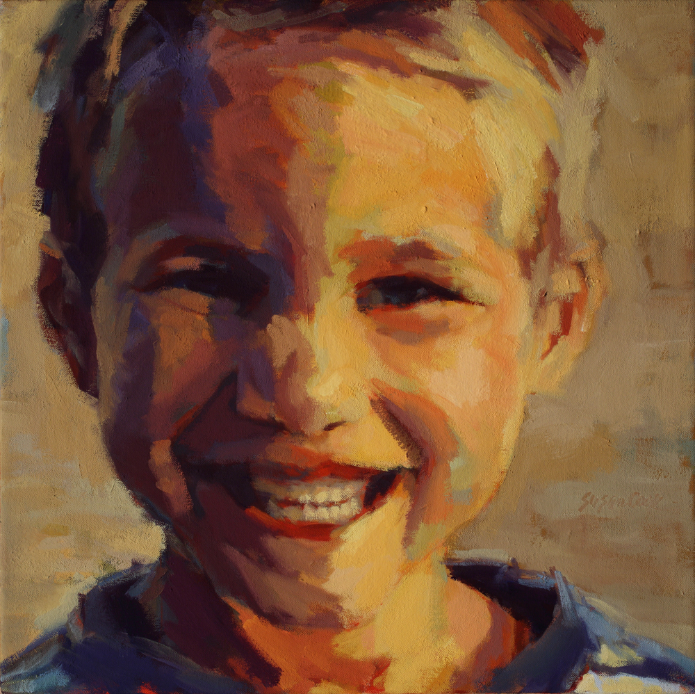 "Susan Cook ""Dylan"", oil on canvas, 18x18"
