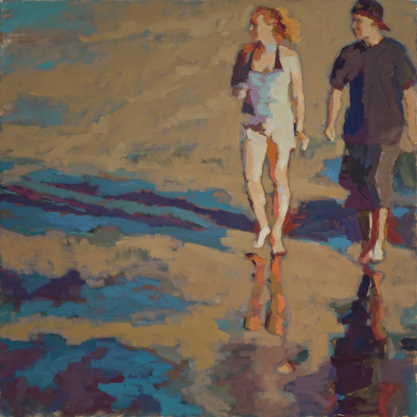 "Susan Cook ""Reflect"" oil on canvas, 48x48"