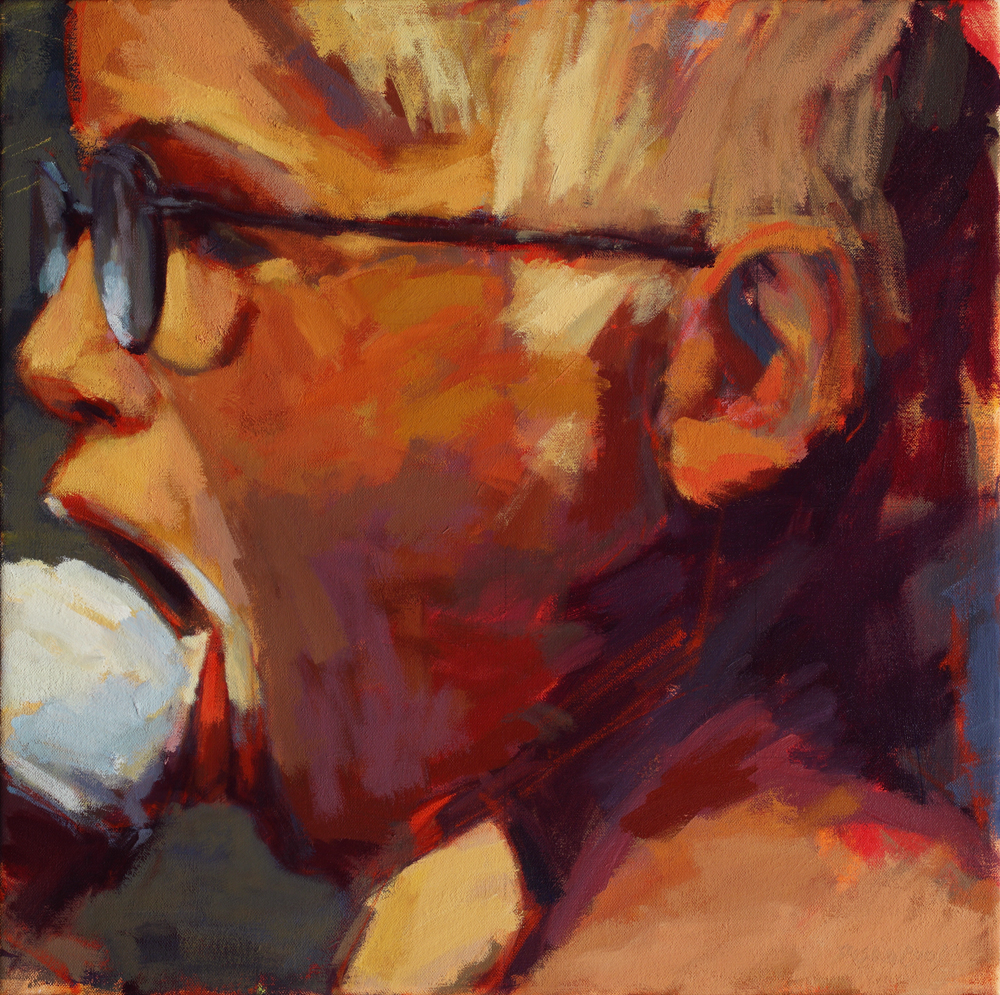 "Susan Cook ""Trent"" oil on canvas, 18x18"