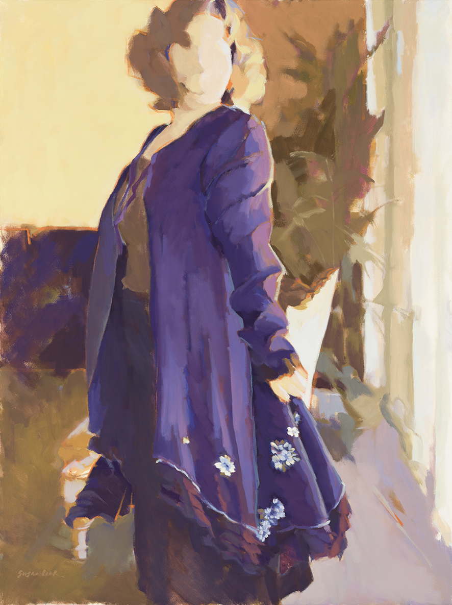 "Susan Cook ""She's a Lady"" oil on canvas, 40x30"
