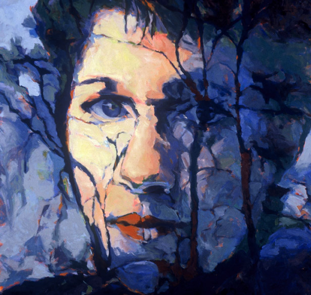 "Susan Cook ""Self Portrait"" oil on canvas, 48x48"