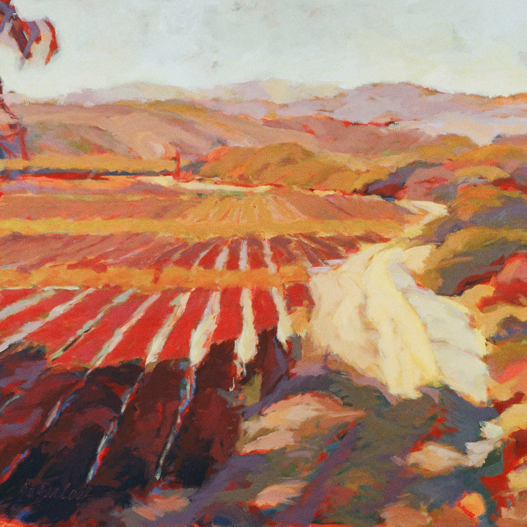 "Susan Cook ""Hope Ranch"" oil on canvas, 36x36"