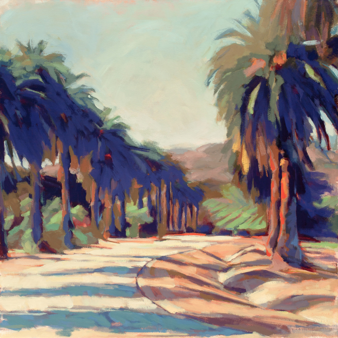 "Susan Cook ""Santa Paula"" oil on canvas, 36x36"