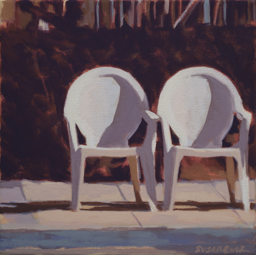 "Susan Cook ""Awaiting"" oil on canvas, 10x10"